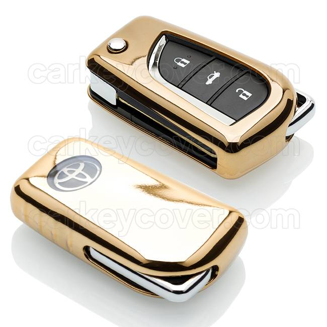 TBU car TBU car Sleutel cover compatibel met Toyota - TPU sleutel hoesje / beschermhoesje autosleutel - Goud