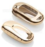 TBU car TBU car Autoschlüssel Hülle kompatibel mit Opel 2 Tasten - Schutzhülle aus TPU - Auto Schlüsselhülle Cover in Gold