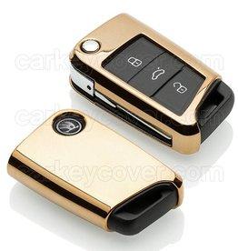 TBU car Skoda Car key cover - Gold