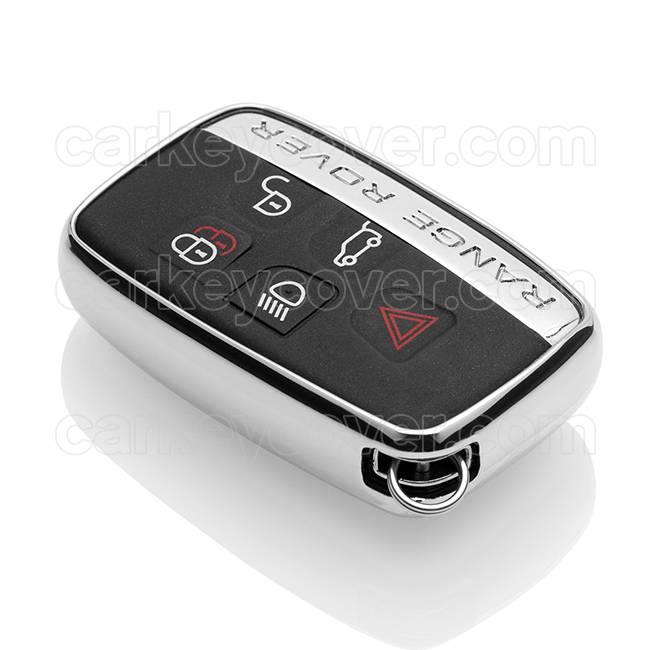 Range Rover Car key cover - Silver Liquid glitters (Special)
