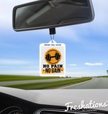 Air fresheners by Freshations | Fitness Collection - No Pain No Gain | New Car