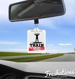 TBU car Air freshener Fitness - Train Hard | New Car