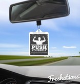 Air fresheners by Freshations | Fitness Collection - Push Yourself | New Car