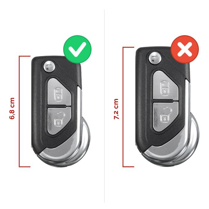 TBU car TBU car Autoschlüssel Hülle kompatibel mit Citroën 2 Tasten - Schutzhülle aus Silikon - Auto Schlüsselhülle Cover in Weiß