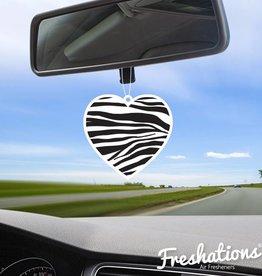 TBU car Luchtverfrisser Heart - Zebra | Fruit Cocktail