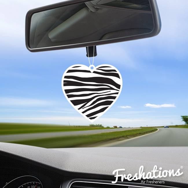 Air fresheners by Freshations | Heart Collection - Zebra | Fruit Cocktail