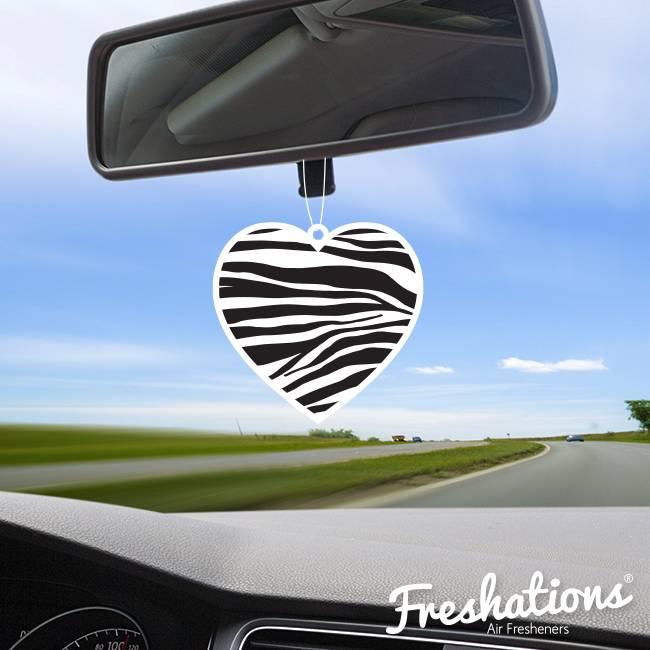 TBU car Lufterfrischer von Freshations | Heart Collection - Zebra | Fruit Cocktail