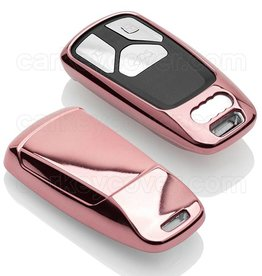 Audi Capa TPU Chave - Rosa ouro