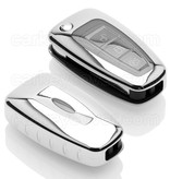 Ford Car key cover - TPU Protective Remote Key Shell FOB Case Cover - Chrome