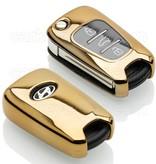 TBU·CAR Hyundai Autoschlüssel Hülle - TPU Schutzhülle - Schlüsselhülle Cover - Gold