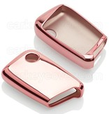 Volkswagen Car key cover - TPU Protective Remote Key Shell FOB Case Cover - Rose Gold