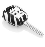 TBU car TBU car Autoschlüssel Hülle kompatibel mit Toyota 2 Tasten - Schutzhülle aus Silikon - Auto Schlüsselhülle Cover in Zebra