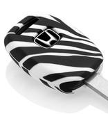 TBU car TBU car Autoschlüssel Hülle kompatibel mit Honda 2 Tasten - Schutzhülle aus Silikon - Auto Schlüsselhülle Cover in Zebra