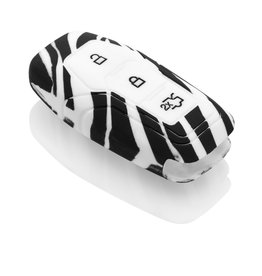 Ford Capa Silicone Chave - Zebra