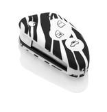 Alfa Romeo Autoschlüssel Hülle - Silikon Schutzhülle - Schlüsselhülle Cover - Zebra
