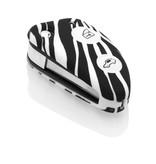 TBU car TBU car Autoschlüssel Hülle kompatibel mit Alfa Romeo 2 Tasten - Schutzhülle aus Silikon - Auto Schlüsselhülle Cover in Zebra