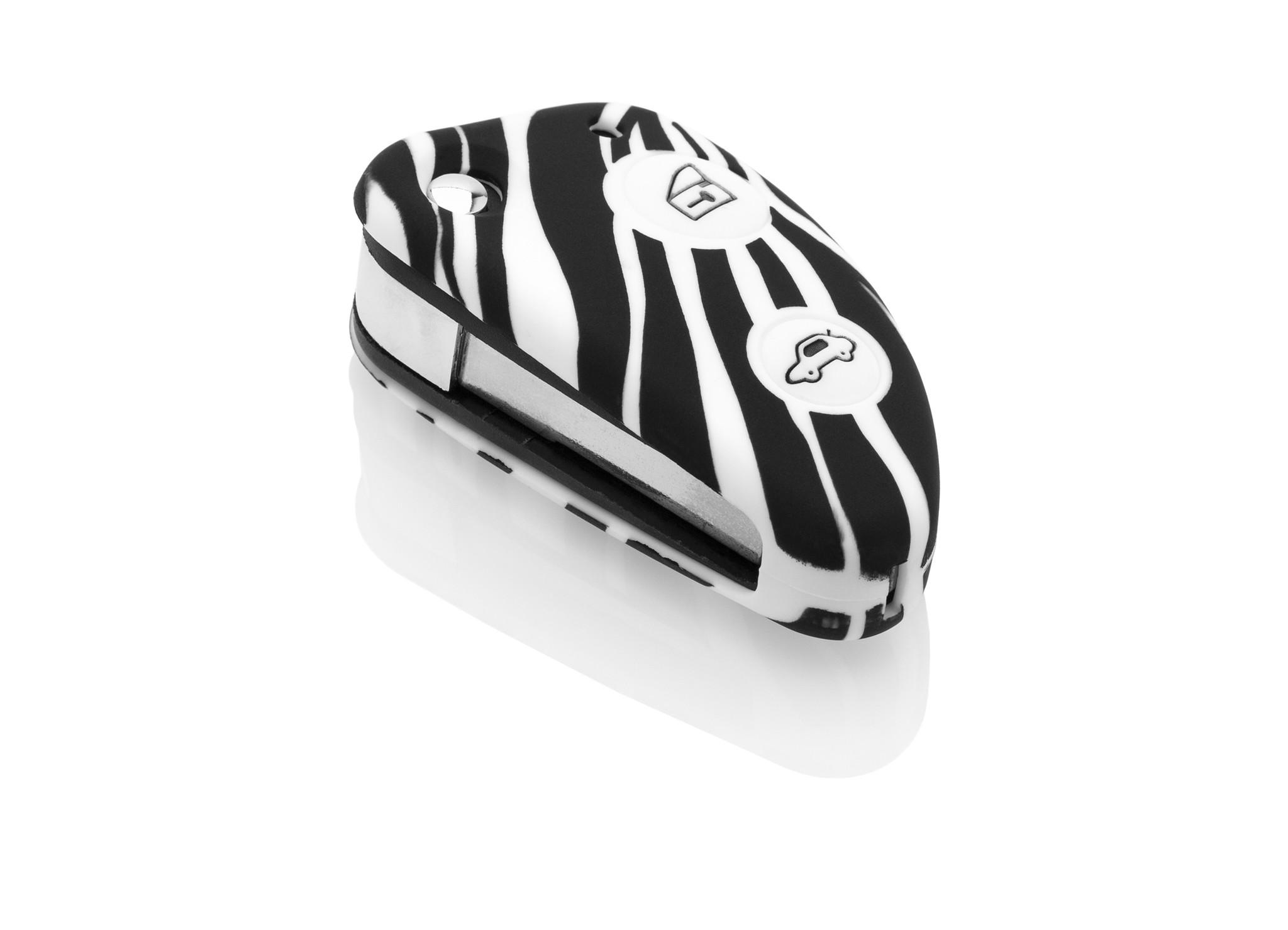 Alfa Romeo Car key cover - Silicone Protective Remote Key Shell - FOB Case Cover - Zebra