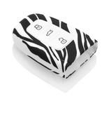 TBU car TBU car Sleutel cover compatibel met Audi - Silicone sleutelhoesje - beschermhoesje autosleutel - Zebra
