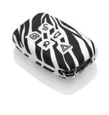 Range Rover Autoschlüssel Hülle - Silikon Schutzhülle - Schlüsselhülle Cover - Zebra