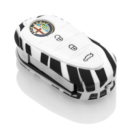 Alfa Romeo Capa Silicone Chave - Zebra