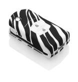 TBU car Autoschlüssel Hülle für Mazda 2 Tasten - Schutzhülle aus Silikon - Auto Schlüsselhülle Cover in Zebra