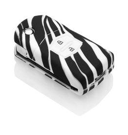 Mazda Car key cover - Zebra