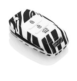 Kia Car key cover - Zebra