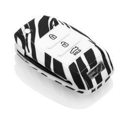 TBU car Kia Sleutel Cover - Zebra