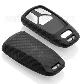 Audi Capa Silicone Chave - Carbon