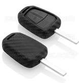 Opel Car key cover - Silicone Protective Remote Key Shell - FOB Case Cover - Carbon