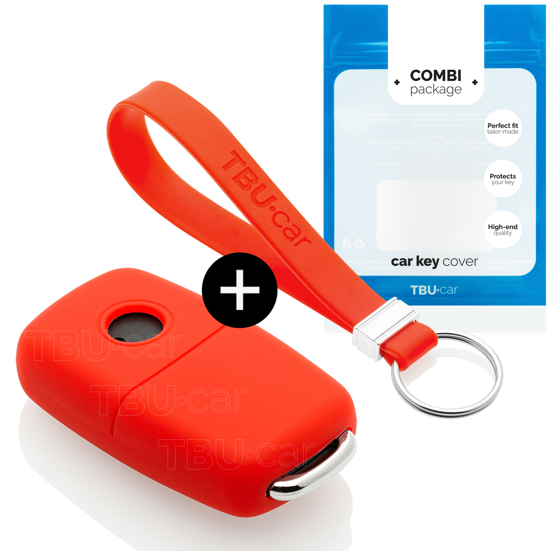 Volkswagen Car key cover - Silicone Protective Remote Key Shell - FOB Case Cover - Red