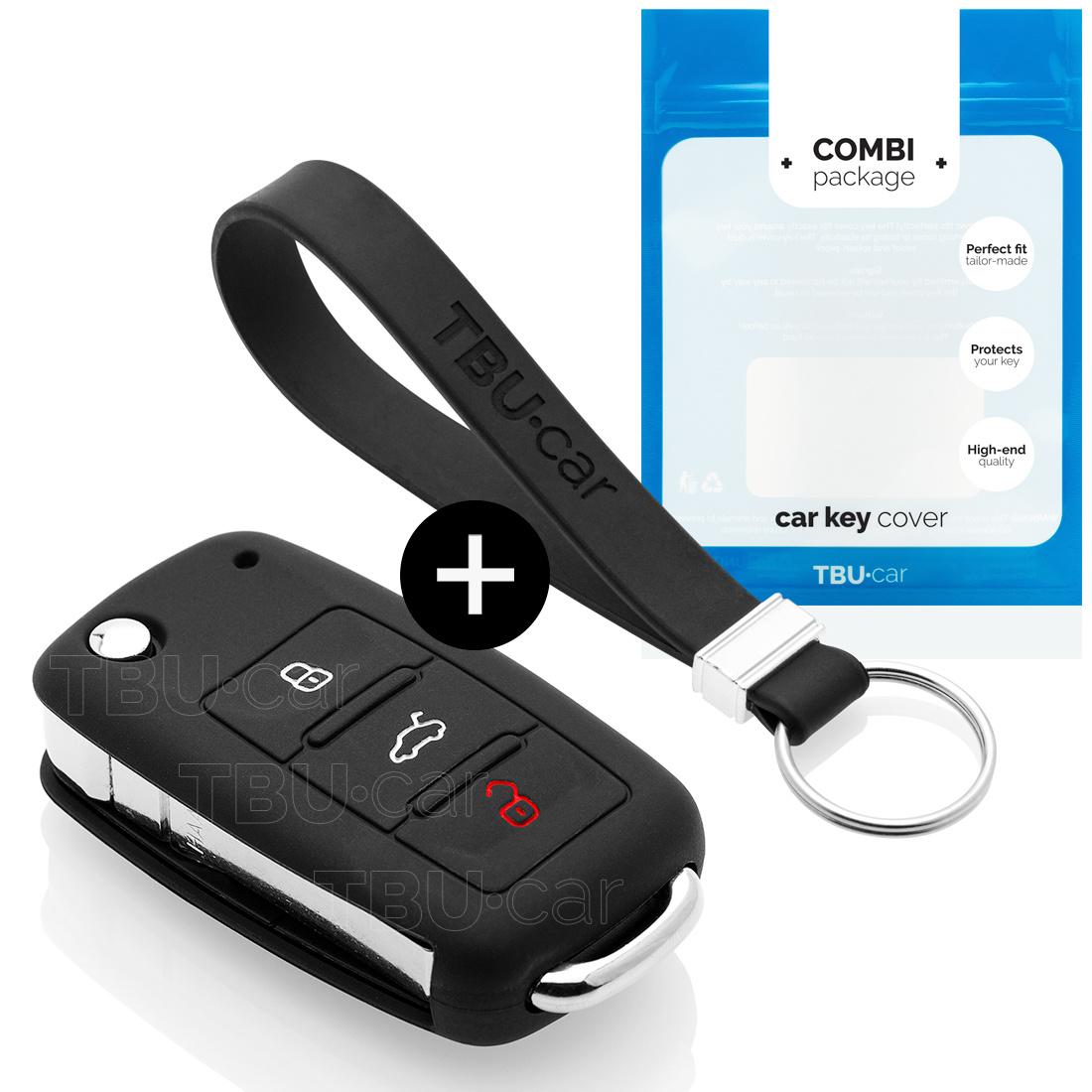 TBU car TBU car Sleutel cover compatibel met Audi - Silicone sleutelhoesje - beschermhoesje autosleutel - Zwart