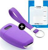 TBU car TBU car Car key cover compatible with Audi - Silicone Protective Remote Key Shell - FOB Case Cover - Purple