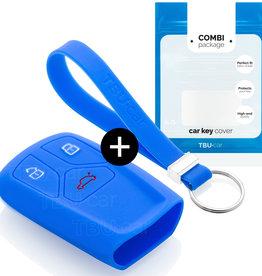 Audi Capa Silicone Chave - Azul