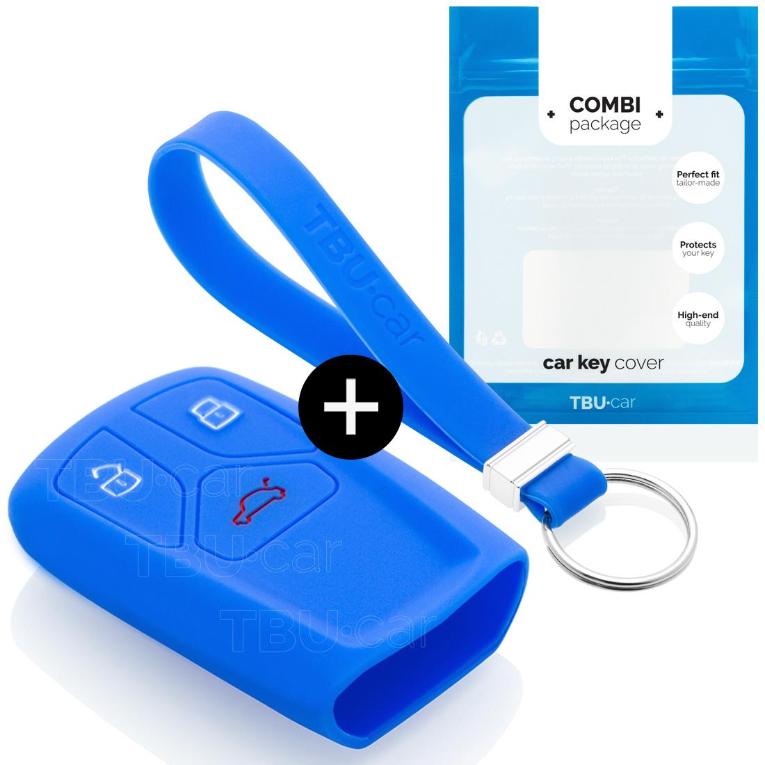 Audi Autoschlüssel Hülle - Silikon Schutzhülle - Schlüsselhülle Cover - Blau