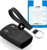 TBU car TBU car Funda Carcasa llave compatible con Audi - Funda de Silicona - Cover de Llave Coche - Negro