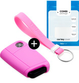 Audi Car key cover - Silicone Protective Remote Key Shell - FOB Case Cover - Pink