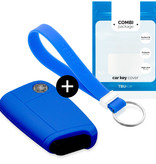 Audi Car key cover - Silicone Protective Remote Key Shell - FOB Case Cover - Blue