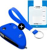 TBU car TBU car Sleutel cover compatibel met Alfa Romeo - Silicone sleutelhoesje - beschermhoesje autosleutel - Blauw