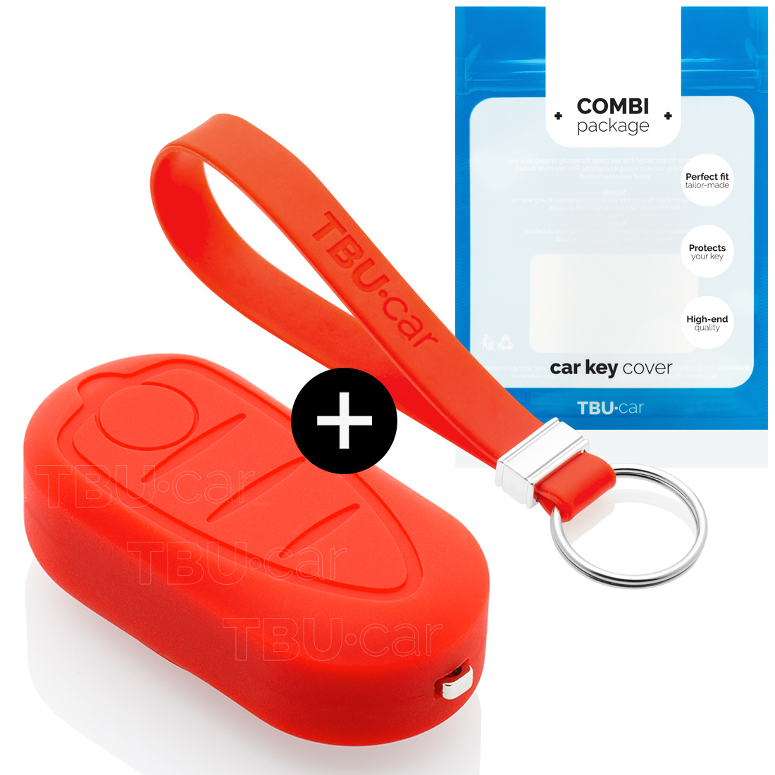 Alfa Romeo Car key cover - Silicone Protective Remote Key Shell - FOB Case Cover - Red