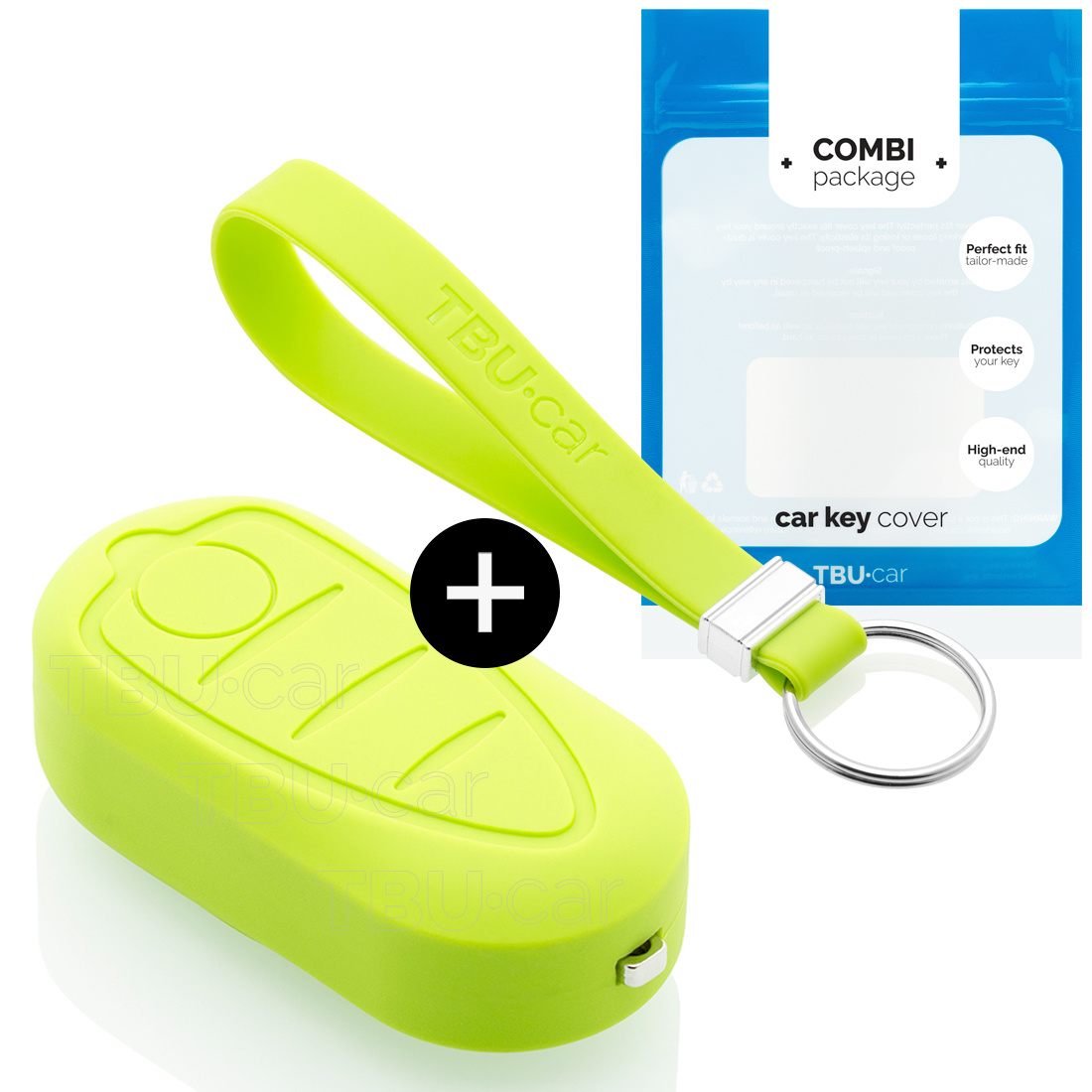 Alfa Romeo Car key cover - Silicone Protective Remote Key Shell - FOB Case Cover - Lime