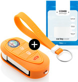 Alfa Romeo Car key cover - Silicone Protective Remote Key Shell - FOB Case Cover - Orange