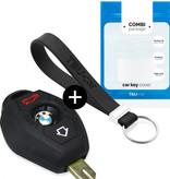 TBU car TBU car Autoschlüssel Hülle kompatibel mit BMW 3 Tasten - Schutzhülle aus Silikon - Auto Schlüsselhülle Cover in Schwarz