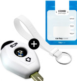TBU car Autoschlüssel Hülle für BMW 3 Tasten - Schutzhülle aus Silikon - Auto Schlüsselhülle Cover in Weiß