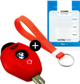 TBU car TBU car Car key cover compatible with BMW - Silicone Protective Remote Key Shell - FOB Case Cover - Red