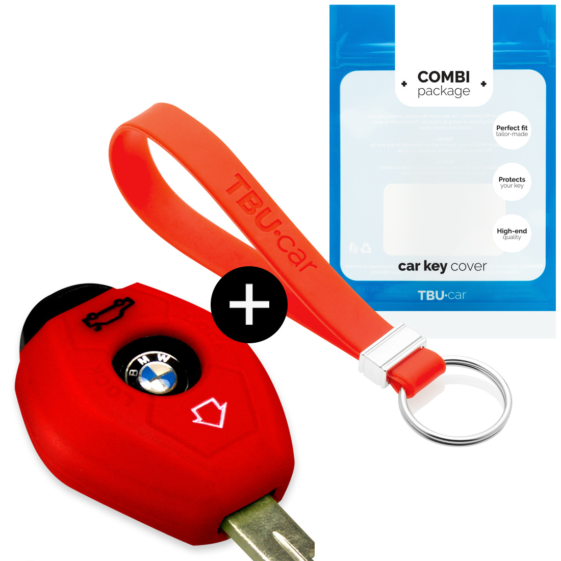 BMW Autoschlüssel Hülle - Silikon Schutzhülle - Schlüsselhülle Cover - Rot