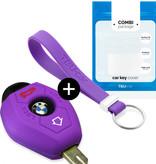TBU car TBU car Funda Carcasa llave compatible con BMW - Funda de Silicona - Cover de Llave Coche - Violeta