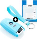 TBU car TBU car Sleutel cover compatibel met BMW - Silicone sleutelhoesje - beschermhoesje autosleutel - Lichtblauw