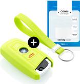 TBU car BMW Sleutel Cover - Silicone sleutelhoesje - beschermhoesje autosleutel - Lime groen