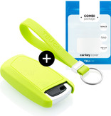 TBU car TBU car Car key cover compatible with BMW - Silicone Protective Remote Key Shell - FOB Case Cover - Lime green